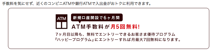 ATM手数料